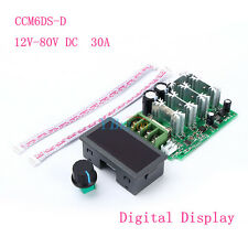 Digital Display LED PWM DC Motor Speed Regulator Controller 30A With Switch