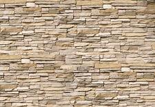 Tapete Asia Stone Nr.239 Größe: 400x280cm China weiße Klinkerstein Steine Wand