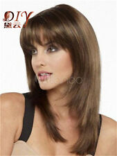 New Fashion New Women's Long Brown Hot Charm Wig Straight Natural Hair Wigs Hot