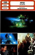 Movie Card. Fiche Cinéma. Abyss / The Abyss (USA) James Cameron 1989