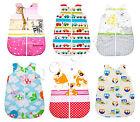 baby/toddler/kid boy/girl sleeping bag 100% cotton zip sleep sack 0-6 months
