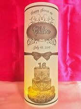 10 Personalized Sweet 16 Birthday Luminaries Table Centerpieces Party Decor #2