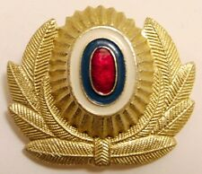 Original Russian MVD Militsiya Police Officer Cap Hat Badge Gold Metal Cockade