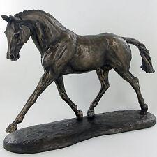 Race Horse Bronze Sculpture Farm Jumping NEW Harriet Glen Equine H23cm 01056