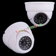 Manichino FINTE Dome Sicurezza CCTV CAMERA CON  LED LUCE + FAKE Infra Red