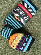 NEW ISOTONER MULTICOLOR KNIT CONVERTIBLE MITTENS GLOVES FINGERLESS  FREE SHIP!