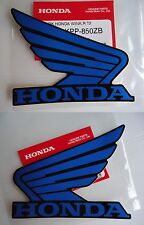 Honda Wing Sticker Decal BLUE / BLACK 100mm x 80mm VFR CBR SP CBF CB SP NSR ST