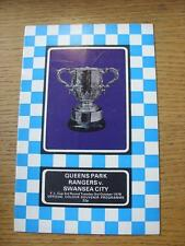 03/10/1978 Queens Park Rangers v Swansea City [Football League Cup] (Creased).