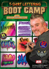 AIRBRUSH ACTION DVD - T-SHIRT LETTERING BOOT CAMP - WICKED COLORS