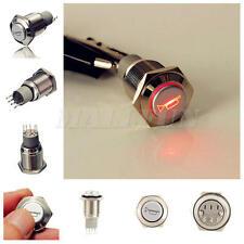 16mm Car Boat Metal LED Lighted Waterproof Momentary Air Horn Push Button Switch