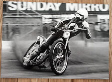 Original 1980s speedway photo dennis sigalos usa vikings, sorcières, loups