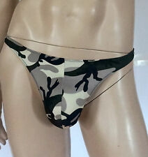 MEN'S CAMO PRINT THONG WITH MESH BACK (ONE SIZE FITS MOST) MALE STRIPPER $22.00