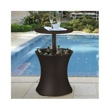 Patio End Table Wicker Outdoor Rattan Deck Accent Coffee Bar Cooler Furniture