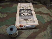 WW2 WH  1 ROLLE 50g MEERGRÜN NÄHMASCHINENZWIRN NÄHFADEN LEINENZWIRN UNIFORM 1942