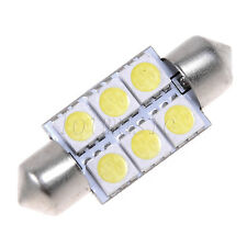 10pcs 36mm 6 SMD 5050 Pure White Dome Festoon CANBUS Car 6 LED Light Bulb