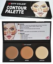 NEW BRANDED CITY COLOR CONTOUR PALETTE CREAM BRONZER HIGHLIGHTER BRONZE KIT UK