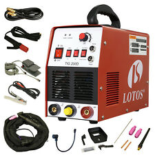 TIG/ Stick 200 Amp Welder Lotos TIG200-DC with Pedal Inverter Power Welding New