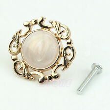 Gold Single Knobs Vintage Resin Door Cabinet Cupboard Drawer Pull Handles 1pc