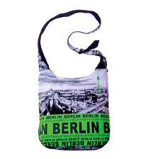 ROBIN RUTH Große Umhängetasche Berlin NEU Skyline Fototasche Grün Beutel Tasche