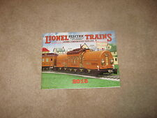 2015 LIONEL (MTH) TRAINS TINPLATE CATALOG MINT