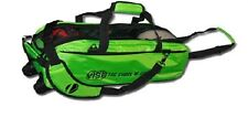 Vise 3 Ball Tote Bowling Bag with tow wheels Color Green
