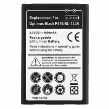 Quality 1500mAh Standard Li-Ion Battery Replacement for LG BL-44JN Black F5