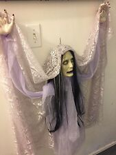 DONNA THE DEAD Gemmy Floating Ghost Zombie Bride Animated Halloween Prop IOB