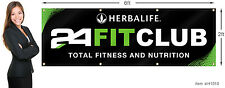 Herbalife 24 Fit Club Banner 2x6 ft (24x72 inch) Outdoor or Indoor Use.