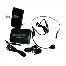 NEW wireless cordless headset Lapel ,mini Microphone DJ mic system