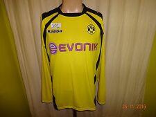 """Borussia Dortmund Original Kappa Langarm Heim Trikot 2009/10 """"EVONIK"""" Gr.XL TOP"""