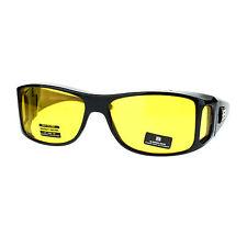 OTG (Over The Glasses) Yellow Lens Anti-Glare Semi Goggle Sunglasses