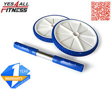 Yes4All Best Abdominal Wheel Dual Roller Ab Machine Exercise Blue - ²O2O5E2