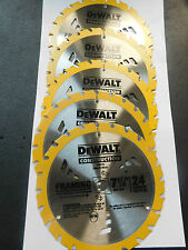 "5-DEWALT DW3178 FAST CUT FRAMING CIRCULAR SAW BLADE 7-1/4"" 24 CARBIDE TEETH NEW"