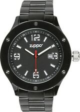 ZIPPO WATCH MEN'S WORK SERIES BLACK DIAL DISPLAY MODEL ITEM 1667