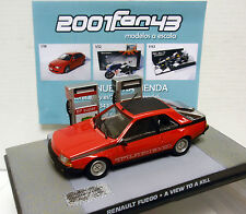 RENAULT FUEGO TURBO BOND 007 AVIEW TO KILL PANORAMA PARA MATAR 1/43 FABBRI