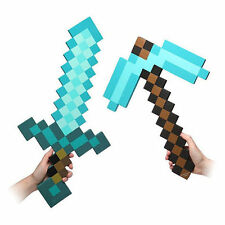 Cool Xmas Gift Set for Minecraft Foam Diamond Sword and Diamond Pickaxe