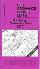 MAP OF EDINBURGH WESTERN NEW TOWN 1877