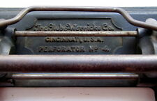 Antique Globe-Wernicke Co. Cast Iron Office Hole Punch Perforator No. 4