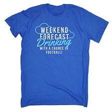 Weekend ... Drinking ... Football T Shirt - slogan tee gift funny ball beer pub