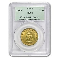 $10 Liberty Gold Eagle Coin - Random Year - MS-61 PCGS - SKU #22152