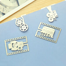 SET of 4 Paper Clips Movie Shaped Metal Bookmarks Silver Cute Bookmarks korean