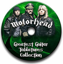 MOTORHEAD HEAVY METAL ROCK GITARRE ETIKETTEN TABLATURE LIED BUCH SOFTWARE CD