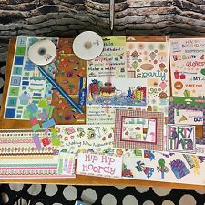 Scrapbooking Birthday Stickers and Die Cut Embellishment LOT NEW Paper Craft 19