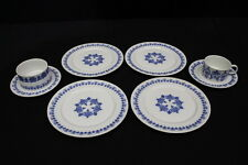 8pc Mixed Lot MELITTA Blue on White Porcelain China Cup, Bowl, & Plates, Germany