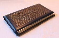 Pocket Bank Note Album 20 Trans Pages Wallet for Currency & Banknotes FREE SHIP