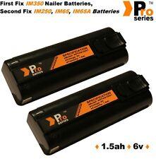 2 x batteries de rechange 1.5 ah (pro-series) pour Paslode IM350 / 350 + / 65 / 65 bis / 250
