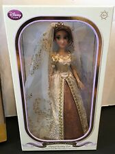 "NIB Disney Store Limited Edition 17"" Tangled Ever After Rapunzel Wedding Doll"