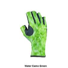 Buff Pro Series Angler 3 Gloves Water Camo Green L-XL (10-11) NEW SHIPS FREE