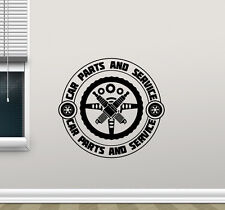 Auto Repair Wall Decal Car Parts Service Garage Shop Vinyl Sticker Mural 196crt
