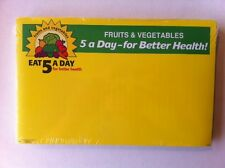 Retail Produce Price Card  Five-A-Day  7 x 11 inch  100 cards Pack